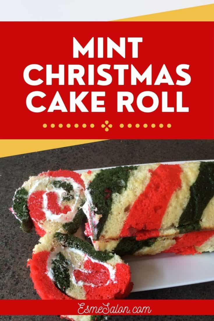 Mint Christmas Cake Roll