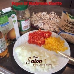 VEGAN GF MUSHROOM RISOTTO INGREDIENTS