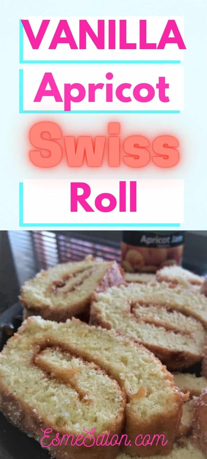 Apricot Jam Swiss Roll with coffee