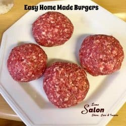 Easy Home Made Burgers