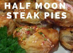 Half Moon Steak Pies