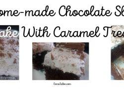 Home-made Chocolate Slab Cake With Caramel Treat