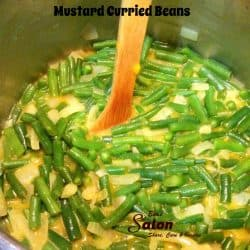 Mustard Curried Pickled Beans