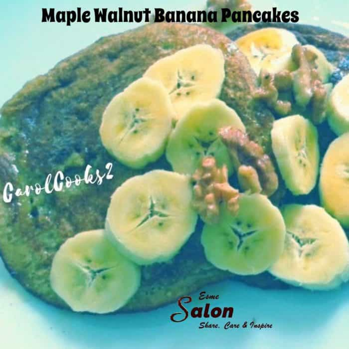 Pancakes with banana and nuts