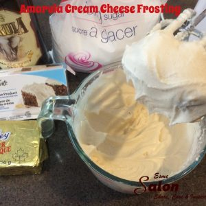 Ingredients to prepare Amarula Cream Cheese Frosting