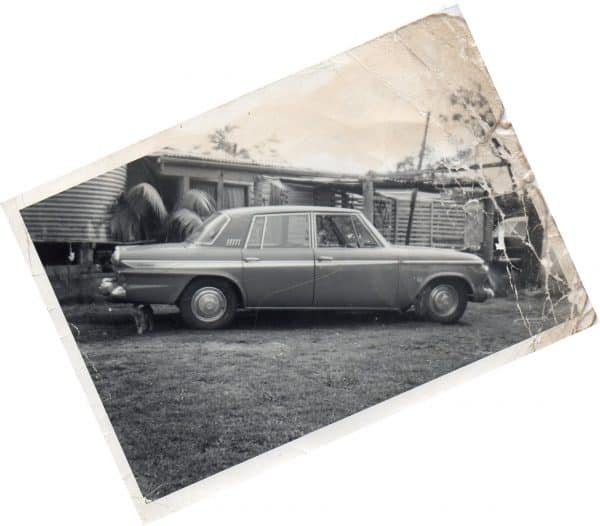 Old vintage picture of Car Cheryl was born in