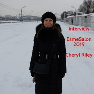 Cheryl Riley standing in the snow on a cold day in Moscow