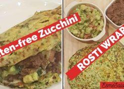 Gluten-free Zucchini Rosti Wraps with Veggies