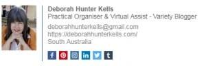 Wisestamp Signature for Social media sharing and blog link for traffic Deborah Hunter Kells