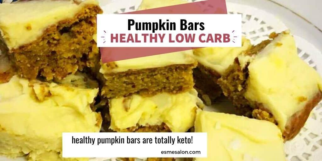 Low Carb Healthy Pumpkin Bars