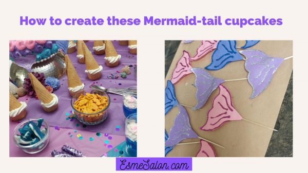 Mermaid-tail cupcakes