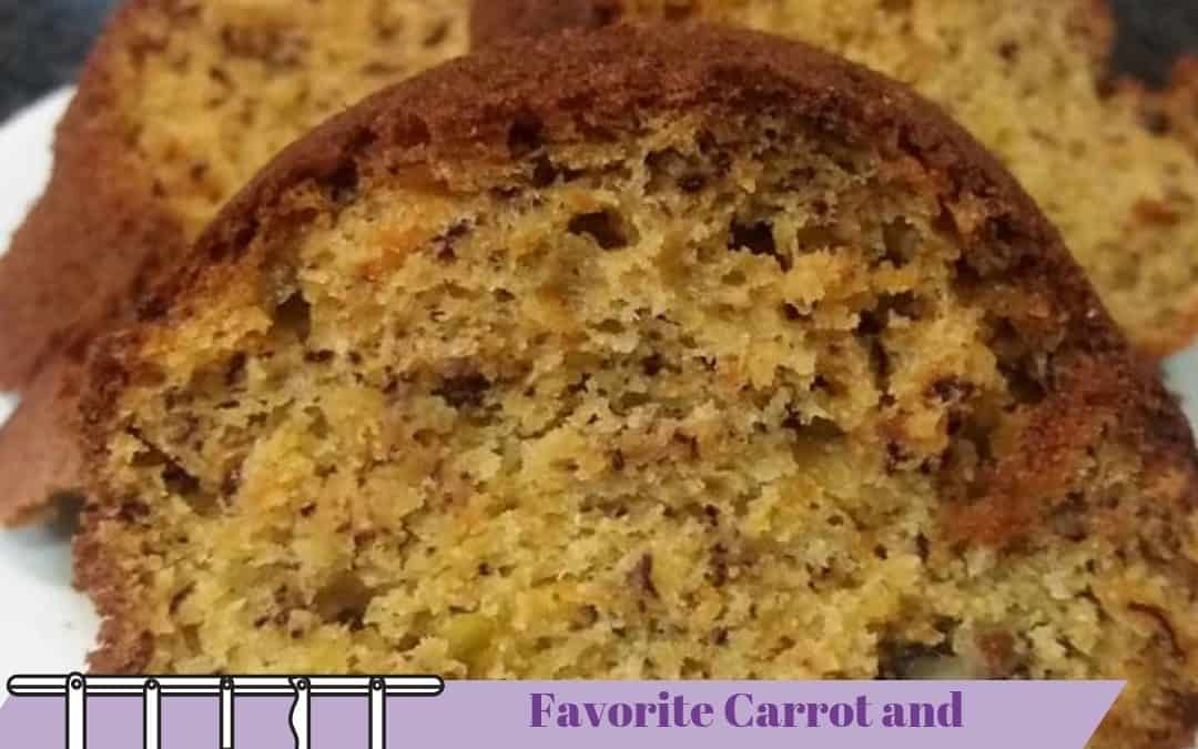 Favorite Carrot and Banana Cake