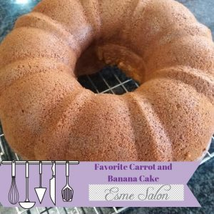 Carrot and Banana Cake cooling on wire rack