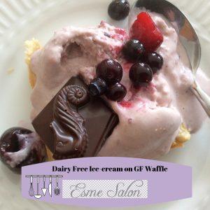 Dairy Free Ice-cream on GF Waffle