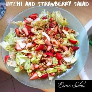 Litchi and Strawberry Salad
