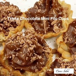 Triple Chocolate Mini Filo Cups