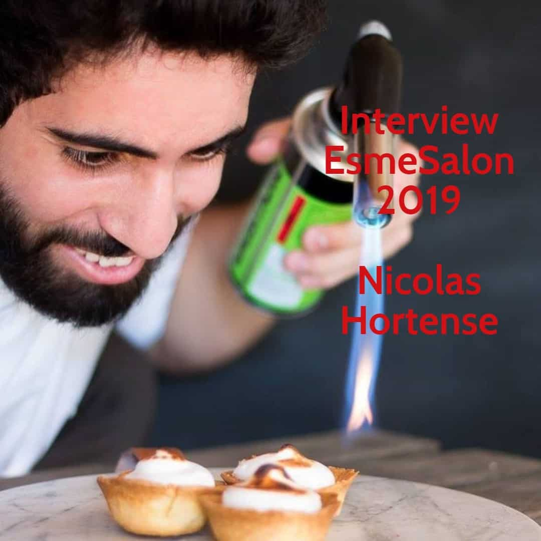 Nicolas Hortense with blow torch in hand