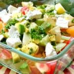 Bowl with Fresh fruit with Feta Cheese