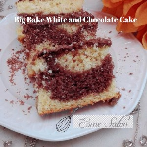 Slice of White and Chocolate Cake