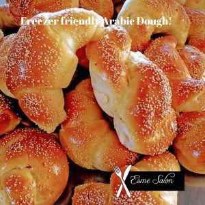 Freshly baked Arabic Dough bread rolls