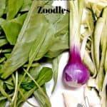 Fresh Zucchini, Spinach,spring onion and garlic