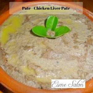 Ceramic Bowl of Chicken Liver Pate