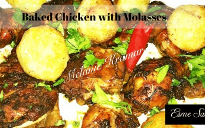 Baked Chicken with Molasses