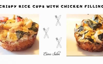 Crispy Rice Cups with Chicken filling