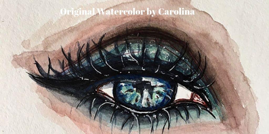 Original Watercolor Eye Painting