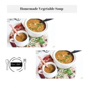 TWO BOWLS OF HOMEMADE VEGETABLE SOUP (1)