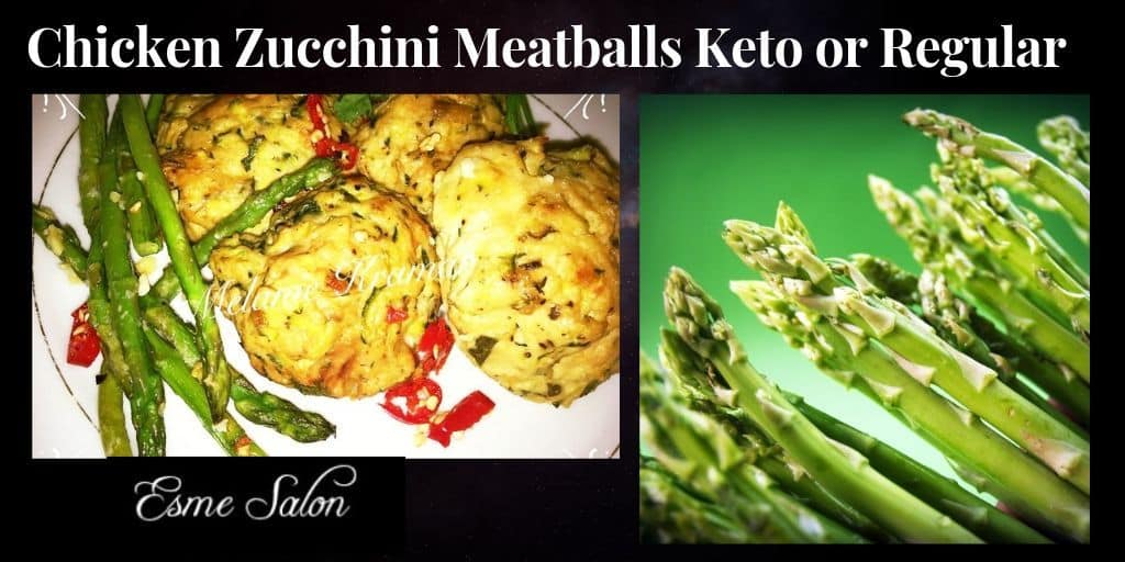 Chicken Zucchini Meatballs Keto or Regular