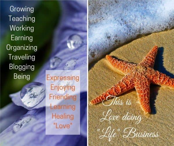 Raindrops and starfish on seashore