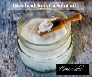 Glass Jar with Coconut oil