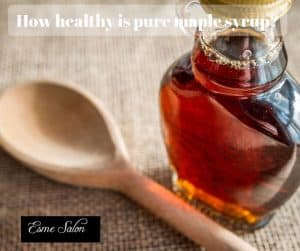 Glas Jar with healthy pure maple syrup?