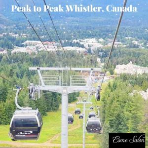 In Gondola doing Peak to Peak at Whistler