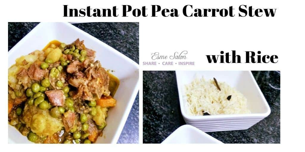 Instant Pot Pea Carrot Stew with Rice