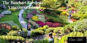 Sunken Garden at The Butchart Gardens - Vancouver Island