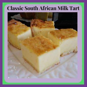 Classic South African Milk Tart Cubes