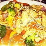 Sesame Chicken Stir-Fried Vegetables
