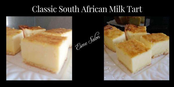 Moreish cubes of Classic South African Milk Tart
