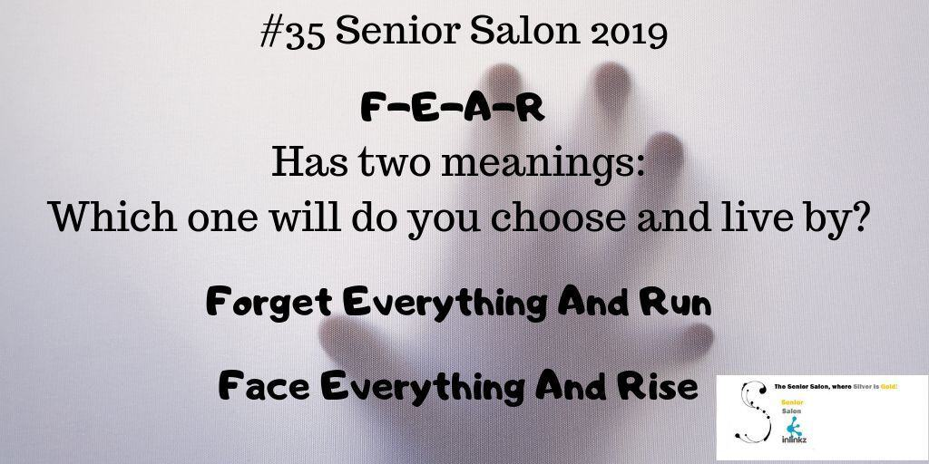 F-E-A-R  Has two meanings: Which one will do you choose and live by? Forget Everything And Run Face Everything And Rise