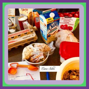 Gluten-free Fruity Flax Squares Ingredients