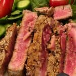 Plated Pan-Seared Blackened Ahi Tuna