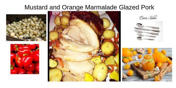 Mustard and Orange Marmalade Glazed Pork
