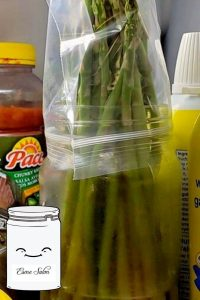 How to keep asparagus fresh for one week in the fridge
