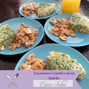 Luxurious Crustless Keto Quiche
