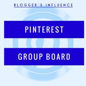 Blogger's Influence Pinterest Group Board Logo