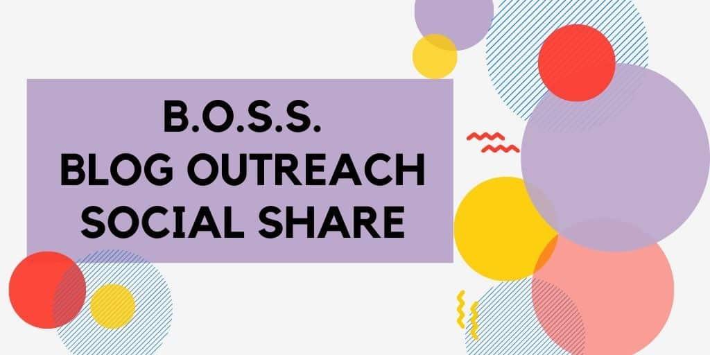 Blog Outreach Social Share Main Page Logo