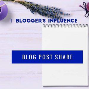Blogger's Influence Blog Post Share Logo