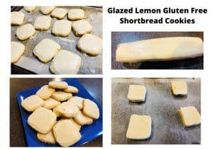 Glazed Lemon Gluten Free Shortbread Cookies